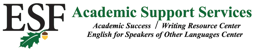 SUNY ESF Academic Support Services Logo